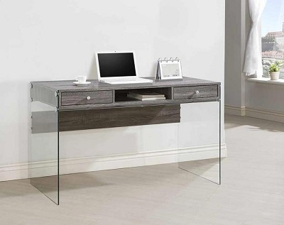 Modern Computer Desk with Glass Sides ( Out of Stock )