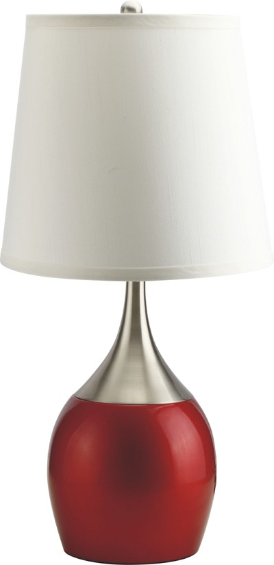 Red and Silver Table Lamp