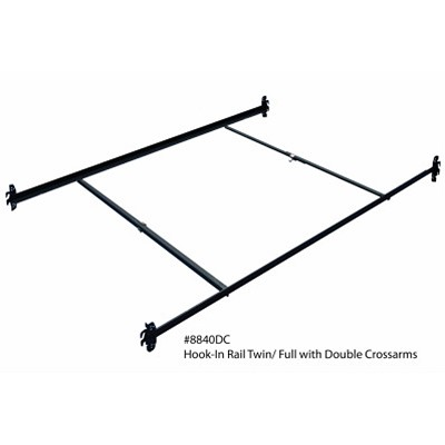 Twin Full Metal Bed Frame Rail 76 With Double Crossarms