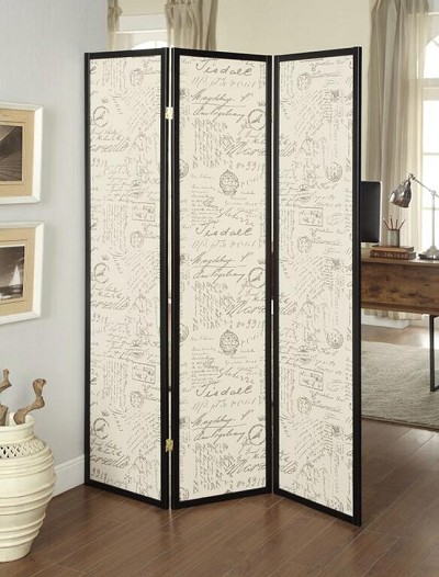 French Print Room Divider