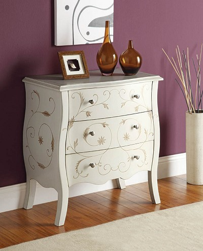 White Finish Bombay Chest