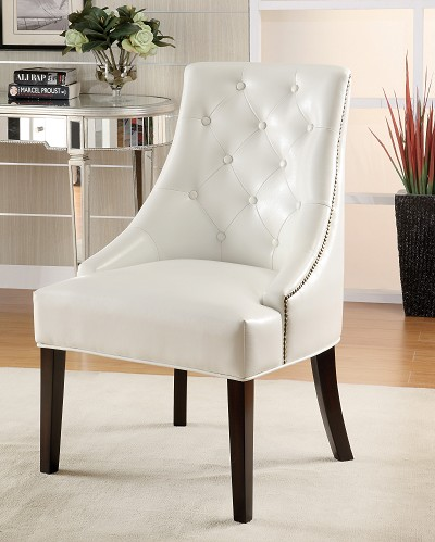 Upholstered Accent Chair with Tufted Button Accents