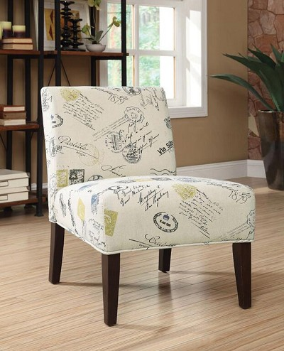 Signature and Stamp Pattern Chair