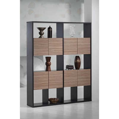 Espresso Rustic Finish Book Case