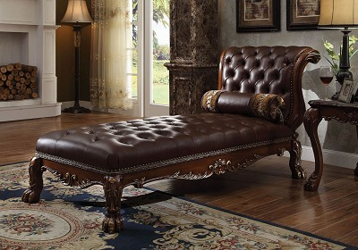Cherry Finish Chaise