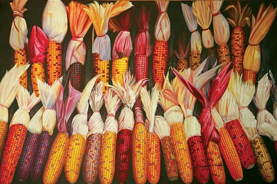 Corns Oil Canvas Painting