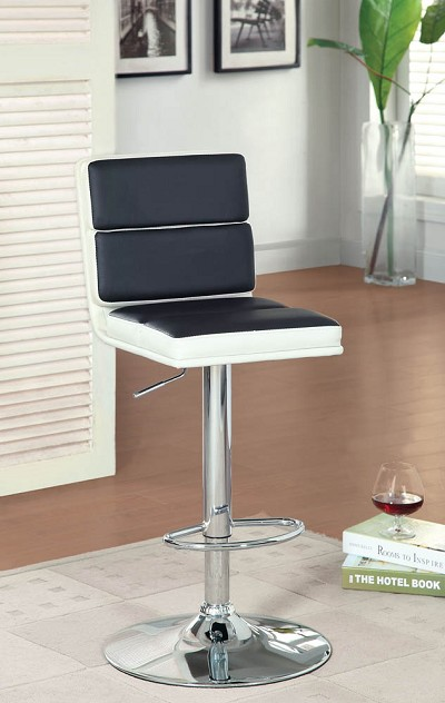 High Adjustable Leatherette Bar Chair