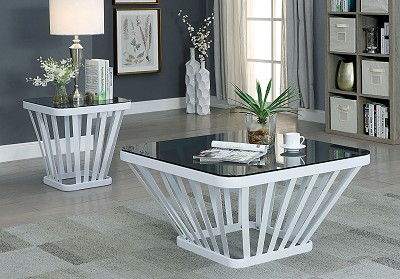 Contemporary Style White Coffee Table