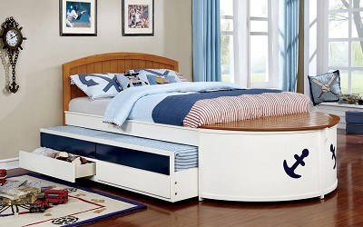 Voyager Captain Twin Bed Frame (Out of Stock) Call Store for ETA