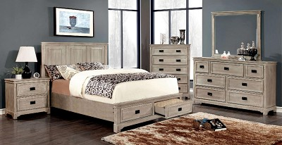 Ash Grey Chess Bed Frame