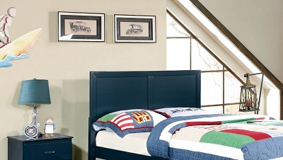 Blue Twin Headboard
