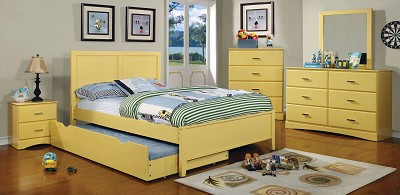 Yellow Twin Bed Frame