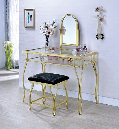 Kerrville Vanity Table With Stool