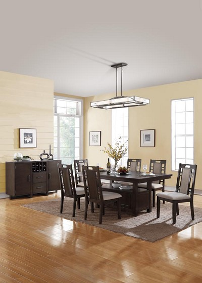 7 Pcs Contemporary Dining Set