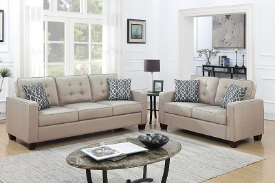 2 Pcs Sofa set with Accent pillows- color option