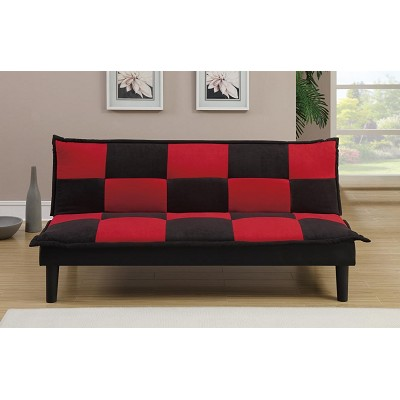 Black And Red Checkered Futon