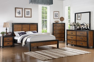 2 Tone Wooden Bed Frame