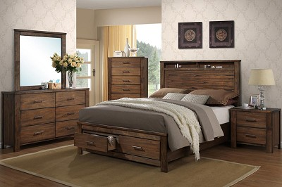 Wooden Bed Frame with 2 under bed Drawers