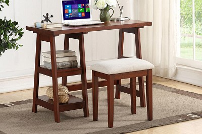 Wooden Writting Desk With Stool- color option