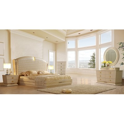 Ivory Luxury Bed Frame