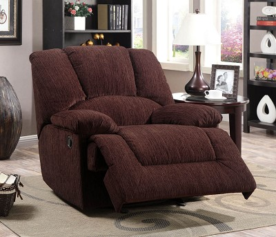 Chocolate Chenille Fabric Recliner