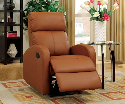 Camel Leather Recliner