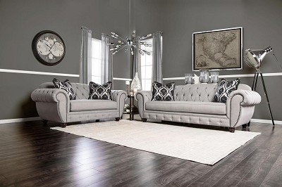 2 Pcs Tufted Back Sofa Set