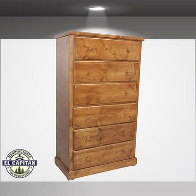 Jumbo Heavy Duty 6 Drawer  Pine Chest- color option