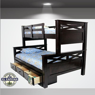 Twin/ Full Solid Wood Bunk Bed