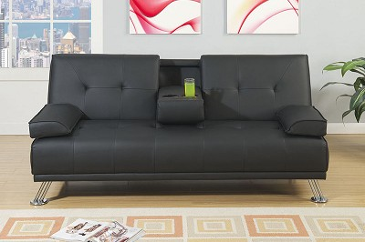 Adjustable Sofa with Cup Holders and Pillows - Color Option