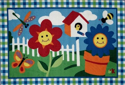 Happy Flowers Kid's Carpet