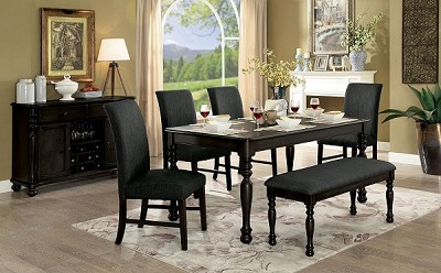 6 Pcs Contemporary Dining Set