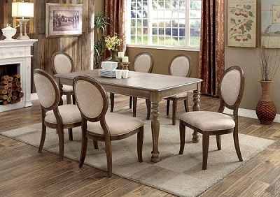 5 Pcs Transitional  Dining Set - extra chairs option