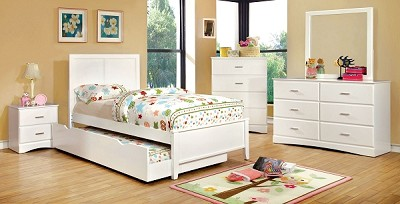 White Solid Wood Slay Bed Frame