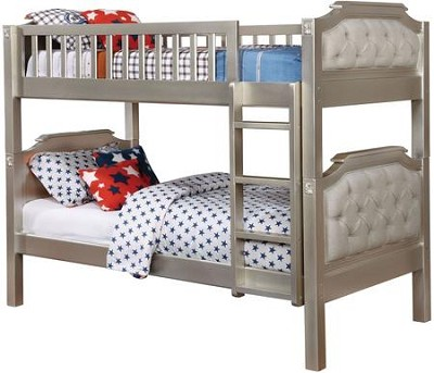 Champagne Finish Twin Bunk Bed
