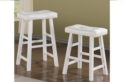 White Finish Stool